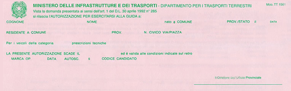 Esercitazioni di guida - Si possono portare passeggeri con il foglio rosa ...